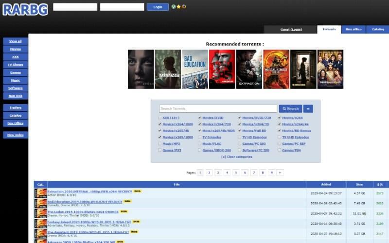 rarbg best torrent site