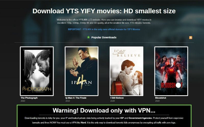 yts torrent search yify
