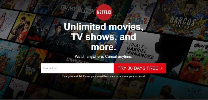 Inscrivez-vous à USA Netflix