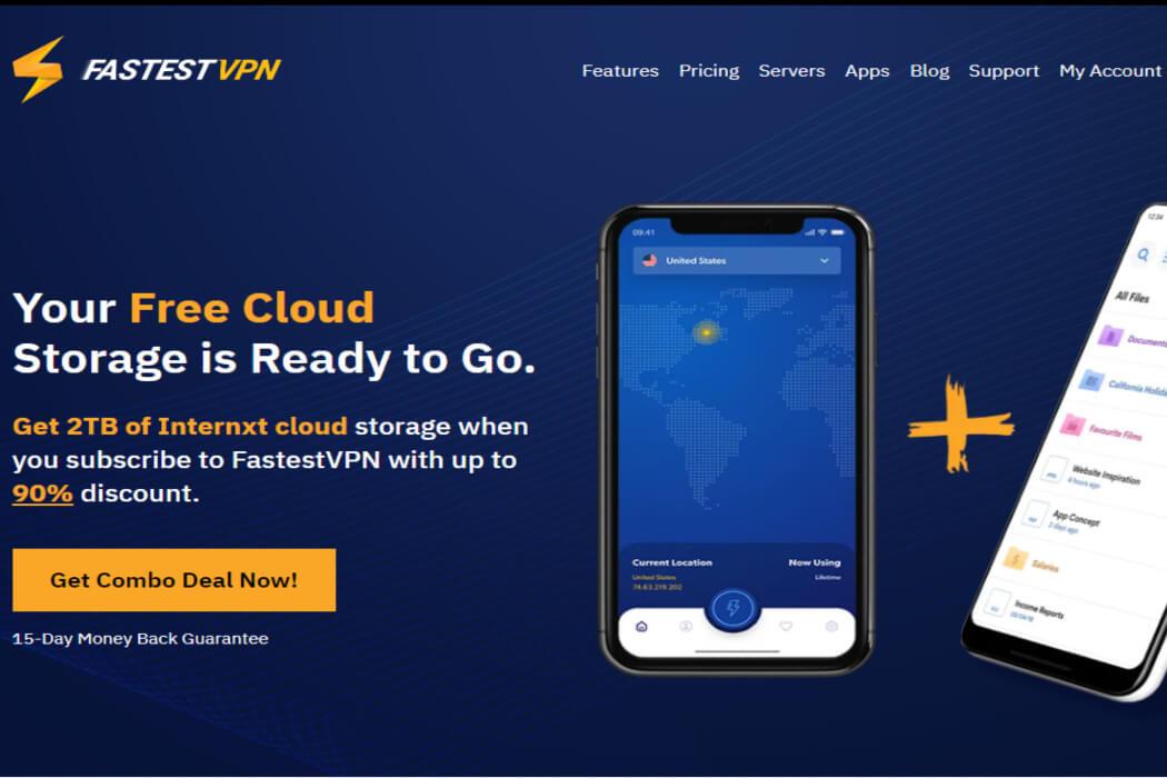 FastestVPN Website Sceenshot