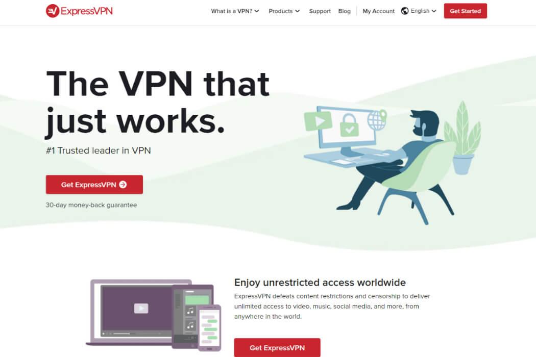 express vpn website screenshot review