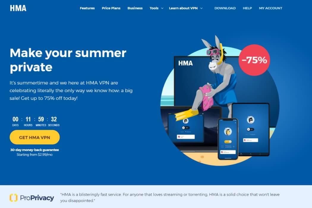hma website screenshot review