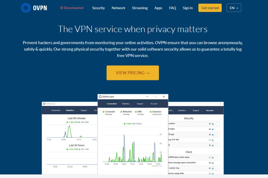 ovpn website screenshot review
